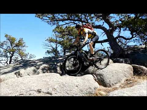 2017 Curt Gowdy State Park Mountain Biking and Hidden Falls