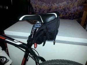saddle bag on mountain bike