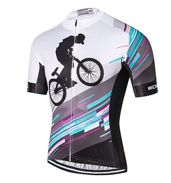 mountain bike jersey with mountain bike design on front and back