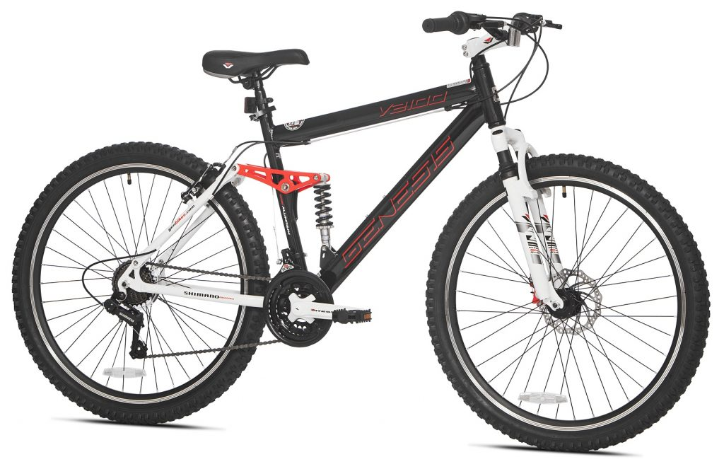 Dual Suspension Mountain Bikes Walmart >> Genesis 27 5 V2100 Mountain Bike Review Walmart Sauserwind