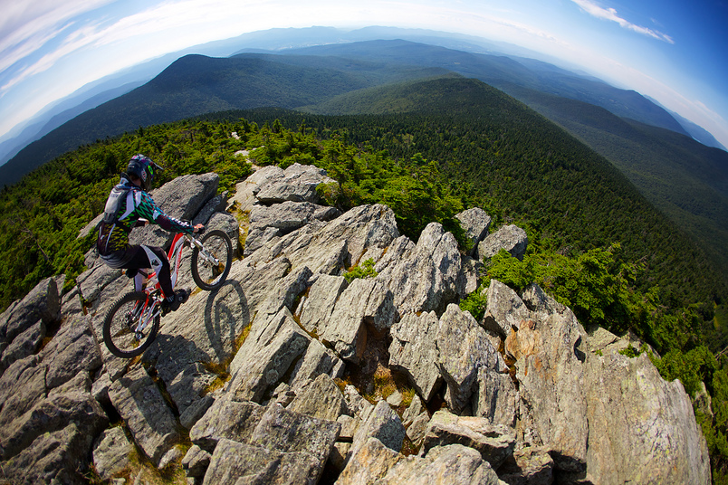 Vermont MTB Trail with rider